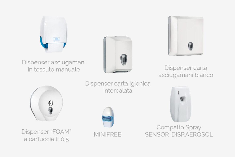Accessori per l'igiene dei bagni